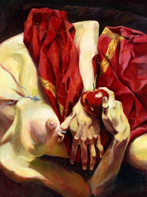 Red Sari and the Apple 1