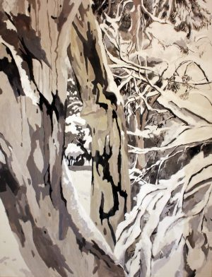 Snow 2 - Pennie Steel   SteelReid Studio Blue Mountains